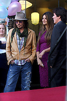 LOS ANGELES - APR 1:  Johnny Depp, Penelope Cruz, Rob Marshall  at the Penelope Cruz Hollywood Walk of Fame Ceremony at El Capitan Theater on April 1, 2011 in Los Angeles, CA