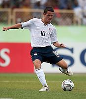 Luis Gil controls the ball. US Under-17 Men's National Team defeated United Arab Emirates 1-0 at Gateway International  Stadium in Ijebu-Ode, Nigeria on November 1, 2009.