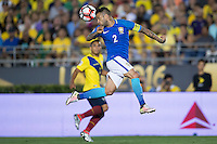 action photo during the match Brasil vs Ecuador, at Rose Bowl Stadium Copa America Centenario 2016. ---Foto  de accion durante el partido Brasil vs Ecuador, En el Estadio Rose Bowl, Partido Correspondiante al Grupo -B-  de la Copa America Centenario USA 2016, en la foto: Dani Alves<br /> --- 04/06/2016/MEXSPORT/ Osvaldo Aguilar
