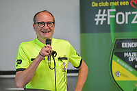 Ben Weyts , Flemish Minister of Sports , pictured during a recruting campaign from Voetbal Vlaanderen to attract more referees and match officials with Flemish minister of Sport Ben Weyts , Sunday 3 October 2021 in Mazenzele Opwijk , Belgium . PHOTO SPORTPIX | STIJN AUDOOREN