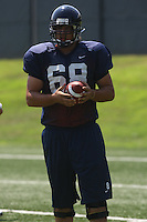 Virginia tight end Anthony Mihota during open spring practice for the Virginia Cavaliers football team August 7, 2009 at the University of Virginia in Charlottesville, VA. Photo/Andrew Shurtleff