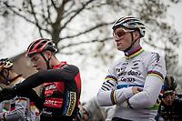 CX World Champion Mathieu van der Poel (NED/Corendon-Circus) awaiting the race start<br /> <br /> Jaarmarktcross Niel 2019 (BEL)<br /> <br /> ©kramon