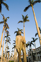 Founder of Palm Beach Statue  Elisha Newton Dimick in expensive Palm Beach Florida on Royal Palm Wa