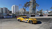 #4 Corvette of Oliver Gavin and Tommy Milner, Long Beach Grand Prix, Long Beach, CA, April 2014.  (Photo by Brian Cleary/ www.bcpix.com )