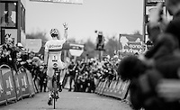 World Champion Wout Van Aert (BEL/Crelan-Vastgoedservice) wins on top of the Koppenberg & takes his 3rd consecutive win in the Koppenbergcross<br /> <br /> 25th Koppenbergcross 2016
