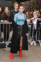 Dua Lipa<br /> arrives for the Topshop Unique AW17 show as part of London Fashion Week AW17 at Tate Modern, London.<br /> <br /> <br /> ©Ash Knotek  D3232  19/02/2017