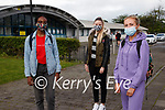 Ola Obadina, Sarah Egan and Nicola Moriarty, Leaving Certificate students from Mercy Mounthawk pictured before sitting their first exam on Wednesday morning.