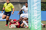 Emily Tuck of Hong Kong scores a try during the Asia Rugby U20 Sevens 2017 at King's Park Sports Ground on August 4, 2017 in Hong Kong, China. Photo by Yu Chun Christopher Wong / Power Sport Images