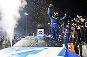 #19: Martin Truex Jr., Joe Gibbs Racing, Toyota Camry Auto Owners Insurance, celebrates in Victory Lane