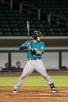 AZL Mariners designated hitter Geoandry Montilla (22) at bat against the AZL Cubs on August 4, 2017 at Sloan Park in Mesa, Arizona. AZL Cubs defeated the AZL Mariners 5-3. (Zachary Lucy/Four Seam Images)