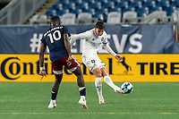 FOXBOROUGH, MA - AUGUST 7: Juan Pablo Monticelli #55 of Orlando City B passes the ball during a game between Orlando City B and New England Revolution II at Gillette Stadium on August 7, 2020 in Foxborough, Massachusetts.