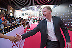 Paul Scholes during the Red Carpet event at the World Celebrity Pro-Am 2016 Mission Hills China Golf Tournament on 20 October 2016, in Haikou, China. Photo by Weixiang Lim / Power Sport Images