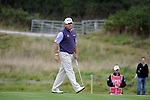 ISPS Handa Wales Open Golf day two :  Lee Westwood reacts to his putt on the 10thj green at the Celtic Manor course in Newport, UK this afternoon.