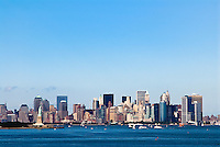 New York city skyline and harbor, NYC, USA