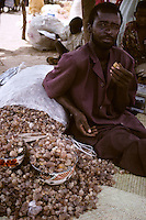 Gum Arabic for Sale in the Market.  Bondoukou, Niger, West Africa.