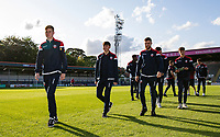 Bolton Wanderers' players inspecting the pitch before the match<br /> <br /> Photographer Andrew Kearns/CameraSport<br /> <br /> The Carabao Cup First Round - Rochdale v Bolton Wanderers - Tuesday 13th August 2019 - Spotland Stadium - Rochdale<br />  <br /> World Copyright © 2019 CameraSport. All rights reserved. 43 Linden Ave. Countesthorpe. Leicester. England. LE8 5PG - Tel: +44 (0) 116 277 4147 - admin@camerasport.com - www.camerasport.com