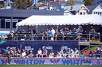 Fans watch the third One Day International cricket match between the New Zealand Black Caps and Bangladesh at the Basin reserve in Wellington, New Zealand on Friday, 26 March 2021. Photo: Dave Lintott / lintottphoto.co.nz