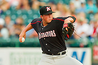 Kannapolis Intimidators starting pitcher Brian Blough (28) in action against the Lakewood BlueClaws at FirstEnergy Park on August 8, 2012 in Lakewood, New Jersey.  The BlueClaws defeated the Intimidators 5-0.  (Brian Westerholt/Four Seam Images)
