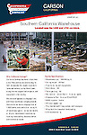 Advertising brochure for California Cartage large warehouse facility