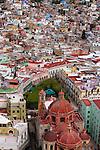 A hillside of colorful buildings, Guanajuato, Mexico