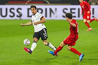 2nd June 2021, Tivoli Stadion, Innsbruck, Austria; International football friendly, Germany versus Denmark;  Mats Hummels 5 Germany and Thomas Delaney 8 Denmark