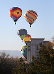 Hot air balloons rise over Carson City, Nev., on Saturday, Oct. 28, 2017. <br /> Photo by Cathleen Allison/Nevada Momentum