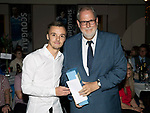 St Johnstone FC Player of the Year Awards 2017-18<br />Cherrybank Blues Player of the Year is Stefan Scougall presented by Jim McIntosh<br />Picture by Graeme Hart.<br />Copyright Perthshire Picture Agency<br />Tel: 01738 623350  Mobile: 07990 594431