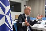 Bruselas Tuesday, 19NOV19.- Jens Stoltenberg Secretario general de la OTAN durante una entrevista en la sede de Bruselas. © Delmi Álvarez