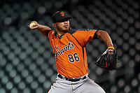 AZL Giants Orange relief pitcher Jorge Labrador (86) during an Arizona League game against the AZL Cubs 1 on July 10, 2019 at Sloan Park in Mesa, Arizona. The AZL Giants Orange defeated the AZL Cubs 1 13-8. (Zachary Lucy/Four Seam Images)