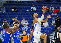 30th September 2021; Madrid, Spain:  Euroleague Basketball, Real Madrid versus Anadolu Efes Istanbul;  Adam Hanga of team Real Madrid lays up for 2 points during the Matchday 1 between Real Madrid and Anadolu Efes Istanbul