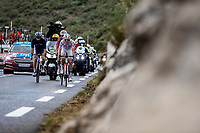 polka dot jersey Benoit Cosnefroy (FRA/AG2R La Mondiale), Jerome Cousin (FRA/Total Direct Energie) and Anthony Perez (FRA/Cofidis) in the early breakaway group up the Col de la Faye <br /> <br /> 107th Tour de France 2020 (2.UWT)<br /> (the 'postponed edition' held in september)<br /> Stage 3 from Nice to Sisteron 198km<br /> ©kramon