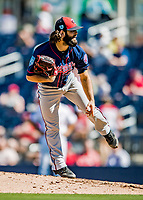 2 March 2019: Minnesota Twins pitcher Tim Collins on the mound during a Spring Training game against the Washington Nationals at the Ballpark of the Palm Beaches in West Palm Beach, Florida. The Twins fell to the Nationals 10-6 in Grapefruit League play. Mandatory Credit: Ed Wolfstein Photo *** RAW (NEF) Image File Available ***