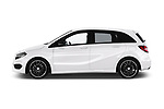 Car driver side profile view of a 2018 Mercedes Benz B Class Base 5 Door Hatchback