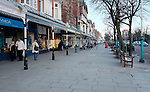 Southport. England 29.1.15.  Lord Street Southport on a cold winters afternoon.
