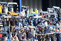KANSAS CITY, KANSAS - NOVEMBER 22: Sporting Kansas City fans raise their scarves during a game between San Jose Earthquakes and Sporting Kansas City at Children's Mercy Park on November 22, 2020 in Kansas City, Kansas.