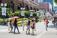 Singapore, Pedestrians in Orchard Road Street Scene.