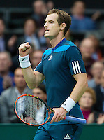 12-02-14, Netherlands,Rotterdam,Ahoy, ABNAMROWTT,Andy Murray(GRB) d Edouard Roger-Vasselin 6-3/6-3<br /> Photo:Tennisimages/Henk Koster