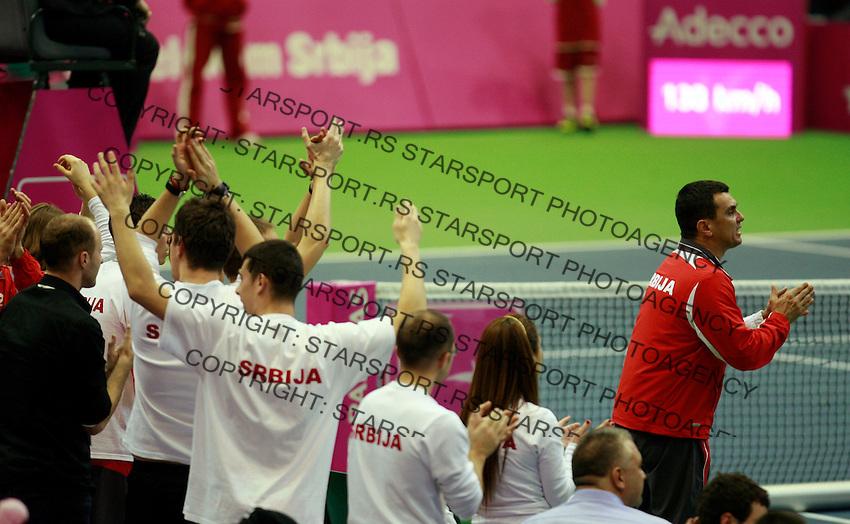 Dejan Vranes  Fed Cup Serbia vs Canada, World group II, first round, Novi Sad, Serbia, SPENS Sports Center, Sunday, February 06, 2011. (photo: Srdjan Stevanovic)(credit image & photo: Pedja Milosavljevic / +381 64 1260 959 / thepedja@gmail.com )