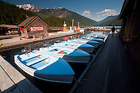 Boats for Rent at Ross Lake Resort, Ross Lake National Recreation Area, North Cascades National Park, Washington, US