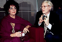 Andy Warhol Liz Taylor 1978 Photo by Adam Scull-PHOTOlink.net