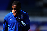 13th September 2020; Portman Road, Ipswich, Suffolk, England, English League One Footballl, Ipswich Town versus Wigan Athletic; Janoi Donacien of Ipswich Town during the warm up