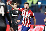 Atletico de Madrid's Saul Niguez celebrates goal during La Liga match. December 13,2015. (ALTERPHOTOS/Acero)