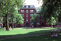 Cambridge:  Harvard Yard--looking south from center.  Photo '88.