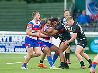 London Broncos Daniel Hindmarsh during the Betfred Championship match between London Broncos and Rochdale Hornets at Castle Bar , West Ealing , England  on 17 June 2018. Photo by Andrew Aleksiejczuk / PRiME Media Images.