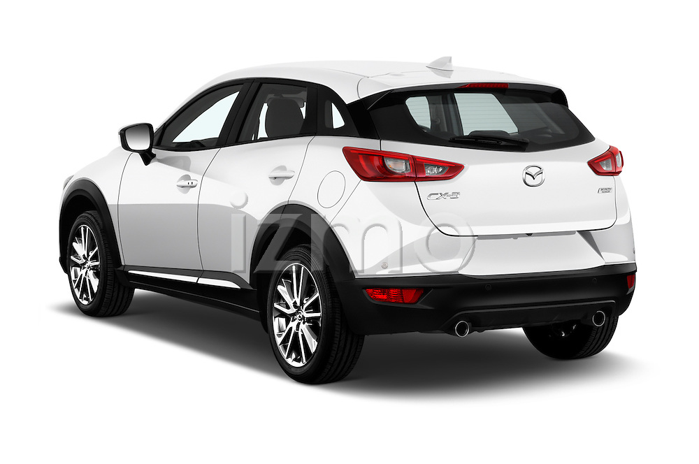 Car pictures of rear three quarter view of 2015 Mazda CX-3 Pure Edition 5 Door Suv Angular Rear