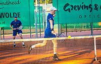 Netherlands, Oktober 24,  2021, Zuidwolde,  KIA Competition Men, premier league,  Suthwalda vs Spijkenisse, Doubles : Boy Westerhof (NED) Jarno Jans (NED)<br /> Photo: Henk Koster/tennisimages.com