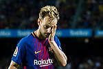Ivan Rakitic of FC Barcelona reacts during the La Liga match between FC Barcelona vs RCD Espanyol at the Camp Nou on 09 September 2017 in Barcelona, Spain. Photo by Vicens Gimenez / Power Sport Images