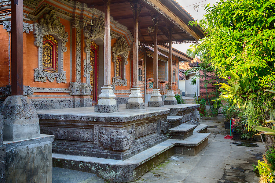 Bali, Indonesia.  Entrance to Private Home, Family Residential Compound, Klungkung, Semarapura.