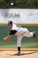 June 15 2007:  Michael Anton of the Rancho Cucamonga Quakes pitches against the Modesto Nuts at The Epicenter in Rancho Cucamonga,CA.  Photo by Larry Goren/Four Seam Images
