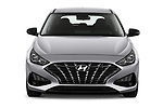 Car photography straight front view of a 2020 Hyundai i30 Techno 5 Door Hatchback Front View